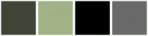 Color Scheme with #404437 #A2B284 #000000 #696969