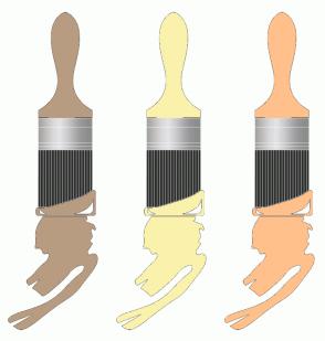 Color Scheme with #B89C81 #FAF2AC #FFC08C