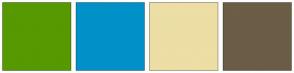 Color Scheme with #569900 #0191C8 #ECDEA4 #6B5D46