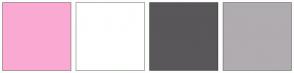 Color Scheme with #FAAAD2 #FFFFFF #595759 #B0ACB0