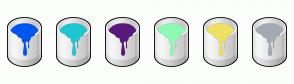 Color Scheme with #0056ED #1FC8D1 #59197D #8EFAB4 #F0E065 #A2AAB3