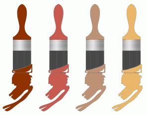 Color Scheme with #8F3200 #C75B50 #BD9275 #EBB76A