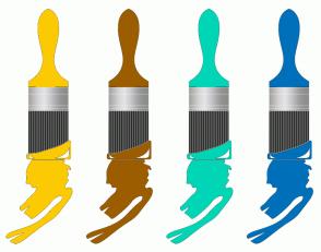 Color Scheme with #FCCA03 #9C5D00 #00D6B6 #0070BA