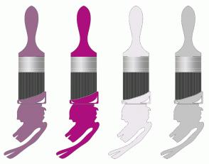 Color Scheme with #996A8D #AD0E7E #EDE8ED #C4C4C4