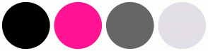 Color Scheme with #000000 #FF1493 #666666 #E3DFE6