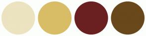 Color Scheme with #ECE3C0 #D9BD66 #6B2020 #69481C