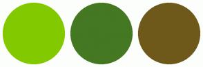 Color Scheme with #83C900 #447822 #6E591B