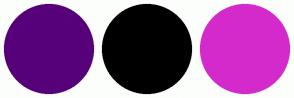 Color Scheme with #56007A #000000 #D42ACB