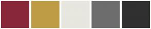 Color Scheme with #89273A #BE9C45 #E7E6DF #6D6D6D #303030