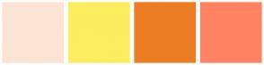 Color Scheme with #FCE4D4 #FCEC60 #ED7D24 #FF8362