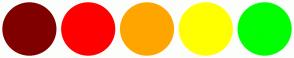 Color Scheme with #800000 #FF0000 #FFA500 #FFFF00 #00FF00