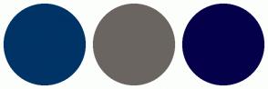 Color Scheme with #003366 #6B6561 #04014A