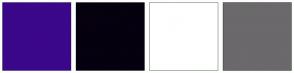 Color Scheme with #3B078A #06000F #FFFFFF #6B696B