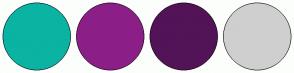 Color Scheme with #0BB3A2 #8C1F87 #531357 #CFCFCF