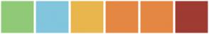 Color Scheme with #90CA77 #81C6DD #E9B64D #E48743 #E48743 #9E3B33