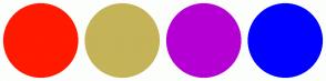 Color Scheme with #FF1A00 #C5B358 #B400D3 #0000FF