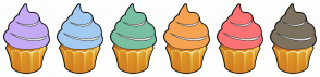 Color Scheme with #C5AAF5 #A3CBF1 #79BFA1 #F5A352 #FB7374 #7D7160