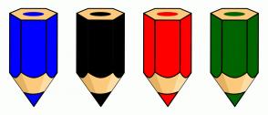 Color Scheme with #0000FF #000000 #FF0000 #006400