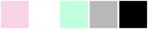 Color Scheme with #F9D3E8 #FFFFFF #BFFFDD #B8B8B8 #000000