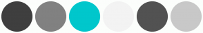 Color Scheme with #3F3F3F #818181 #00C7CC #F3F3F3 #525252 #C8C8C8