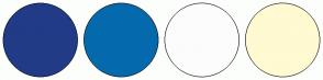 Color Scheme with #223B87 #056AAD #FCFCFC #FFFAD1