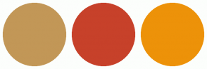 Color Scheme with #C29757 #C7412A #ED9209