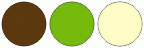 Color Scheme with #5C390E #75BA0D #FFFCC7