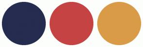 Color Scheme with #252C4F #C54343 #D99B47