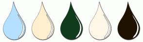 Color Scheme with #B5E0FF #FFEFCF #103B1D #FFF7E8 #1F1200