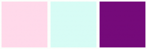 Color Scheme with #FFD9EA #D7FCF5 #750A7A