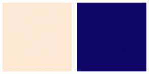 Color Scheme with #FFE9D4 #0F0566