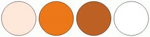 Color Scheme with #FFE8D9 #ED7818 #BD6124 #FFFFFF