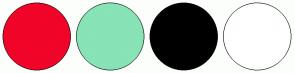 Color Scheme with #F00528 #88E3B6 #000000 #FFFFFF