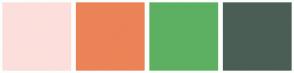Color Scheme with #FCDFDC #EB8357 #5DB061 #4B5E55