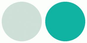 Color Scheme with #CEE0D7 #10B3A2