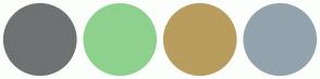 Color Scheme with #6F7273 #8ED18E #B89D5E #93A3AD