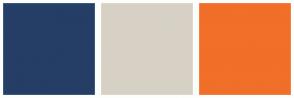 Color Scheme with #253E66 #D7D1C5 #F16F28
