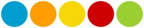 Color Scheme with #009ECE #FF9E00 #F7D708 #CE0000 #9CCF31