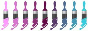 Color Scheme with #FF99FF #D975D1 #B252A3 #8C2E74 #650A46 #5A3B6C #4E6C92 #439CB8 #37CDDE