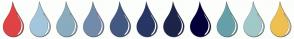 Color Scheme with #DF4343 #A4C6DD #8AACBF #738BAB #445981 #273665 #1D2449 #04003A #66A0A9 #A1C9C9 #EEC052
