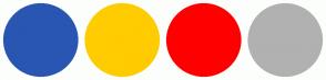 Color Scheme with #2956B2 #FFCC00 #FF0000 #B1B1B1