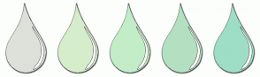 Color Scheme with #DEE0DA #D6EDCC #C2EDC7 #B4E0C1 #9EDEC7