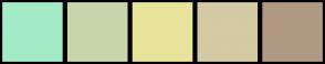 Color Scheme with #A4EBC7 #C9D6A9 #E8E49B #D4CAA3 #B09A84