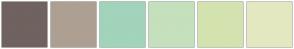 Color Scheme with #70625F #ADA093 #A1D4BA #C5E0BC #D3E3AF #E4E8C1
