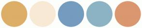 Color Scheme with #DDAE68 #F8E9D5 #749CBF #8CB3C4 #DB976F