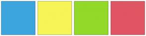 Color Scheme with #3CA5DE #F5F558 #93D929 #E05563
