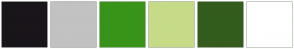 Color Scheme with #19151A #C2C2C2 #389419 #C6DB88 #335C1D #FFFFFF