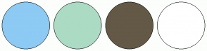 Color Scheme with #8DCAF4 #ACDBC4 #635946 #FFFFFF