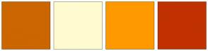 Color Scheme with #CC6600 #FFFBD0 #FF9900 #C13100