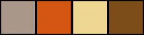 Color Scheme with #A9988A #D45613 #EDD793 #7D4D19